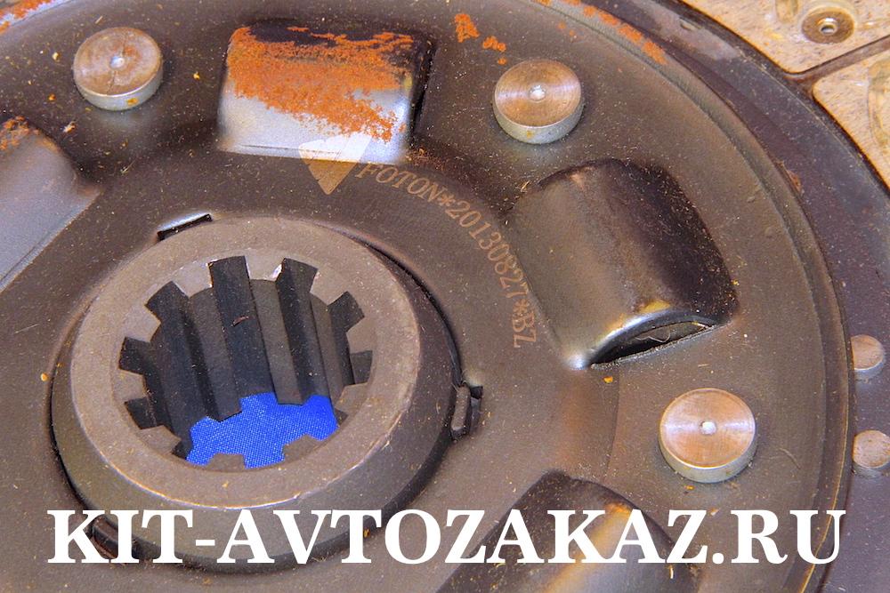 Диск сцепления ведомый Foton Фотон 1051, 1061, 1069 Евро 3, 1089, 1093, 5122  E3  двигатель Perkins Перкинс D = 350